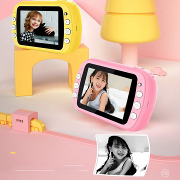 Hot Mini Digital SLR Camera for Kids,1080p 12.0Million Pixels Thermal Instant Print Photo Toys Camera Video Children Toy Gift