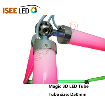 DMX 30mm Diameter 3D Effect LED Tube Light
