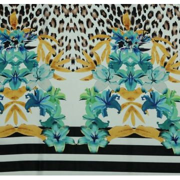 Customize Stretch Tropical Print Fabric