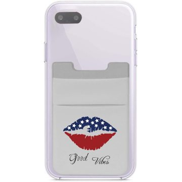 Stretchy Lip Stick on Cell Phone Wallet Holder