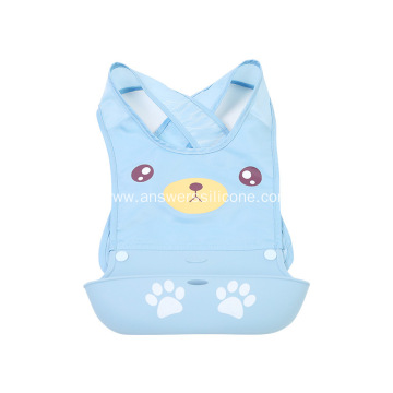 Custom Cheap food grade silicone bib for children
