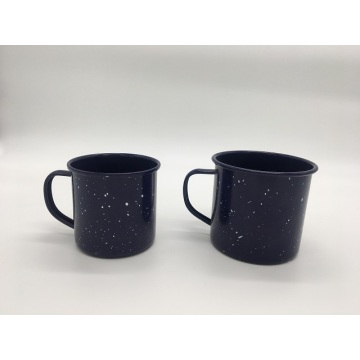 Coffee Mug Cup with Speckled Enamel Finish