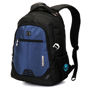 Suissewin Fashion Leisure Black Durable Laptop Backpack