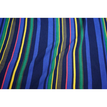 100% Viscose High Twist Crepe Stripe Print Fabric