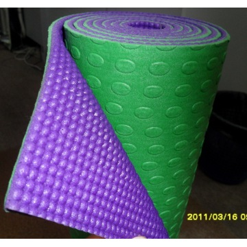 "24*72"" PVC two-tone yoga mat"