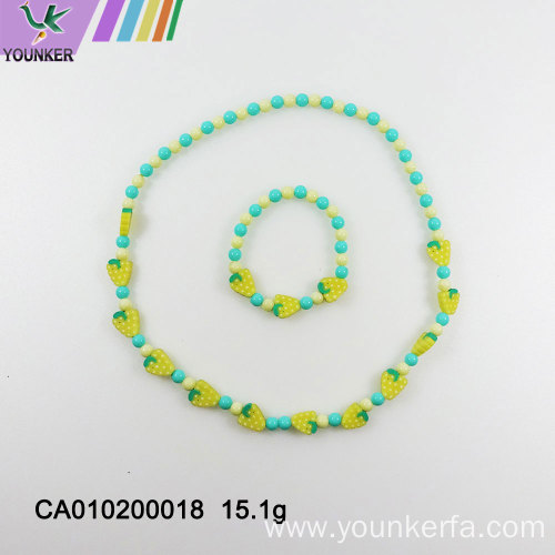 Candy beads plastic children's cute necklace jewelry