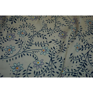 100% Polyester Sea Island Hammer Satin Print Fabric