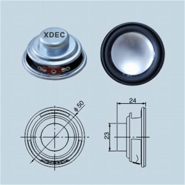 Waterproof 4ohm 3w Plastic Cone Speaker 50mm