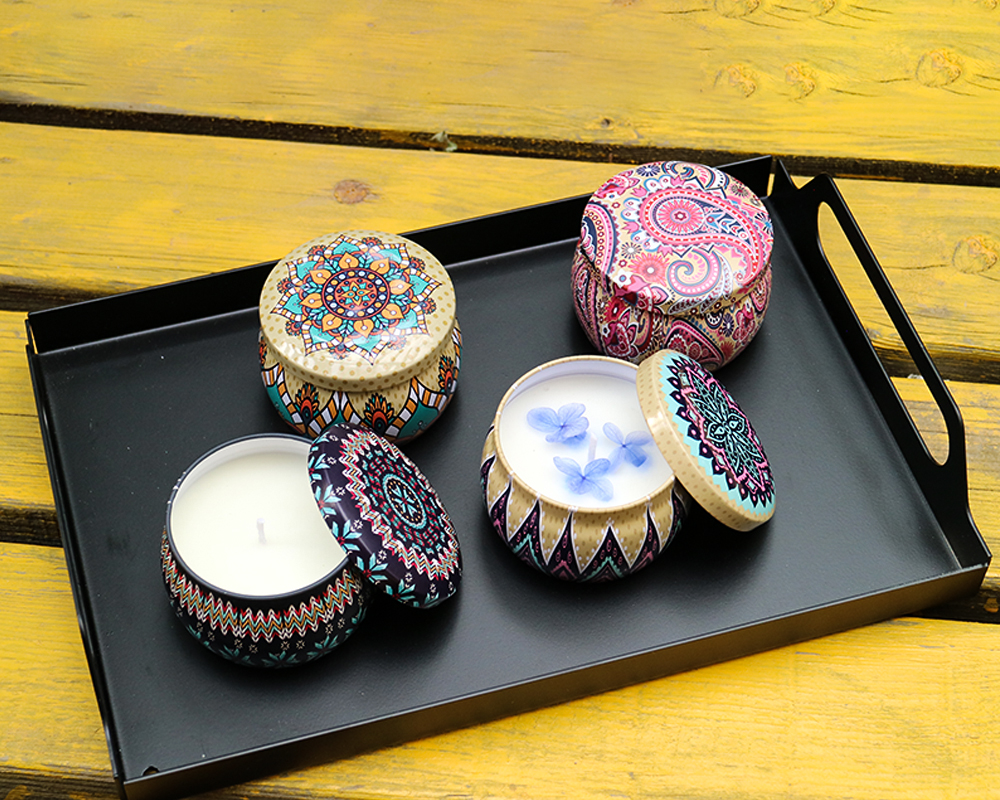 Decorative fragrance Tin candle