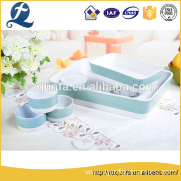 High performance ceramic manufacture colorful durable bakeware set