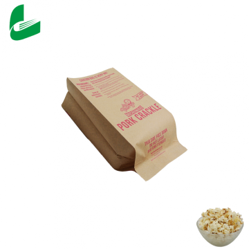 Customize greaseproof  kraft microwave popcorn paper bagS