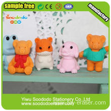 Teddy Bear And Dog Shaped Attractive Erasers
