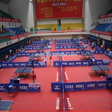 Indoor table tennis sports floor with ITTF
