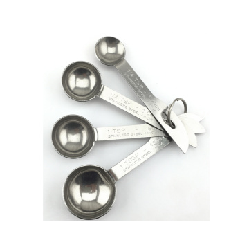 4pcs metal measuring spoons stainless steel measuring scoops