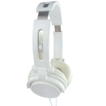 White Steel Destar Stereo Headphone Komputer Fon kepala