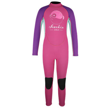 Seaskin Girls Knee Pads One Piece Diving Wetsuits