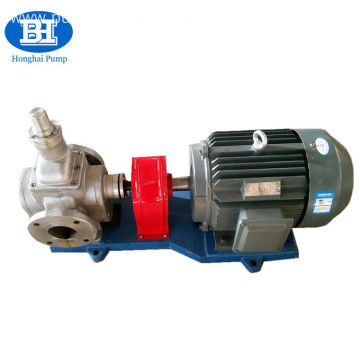 YCB big flow stainless steel arc gear pump