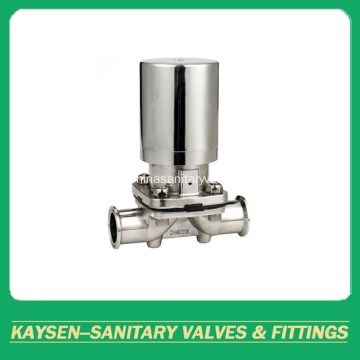 Aseptic diaphragm valve SS pneumatic clamp