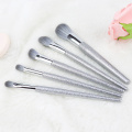 Bling Bling 5 Pcs Wooden Handle Makeup Brushes