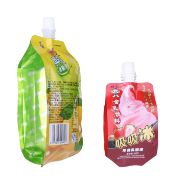 Wholesale Biodegradable Stand Up Drink Pouches Small Packaging Bag