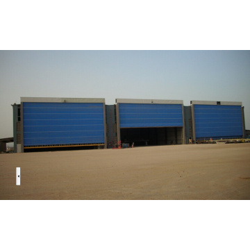 PVC fast action factory hangar door