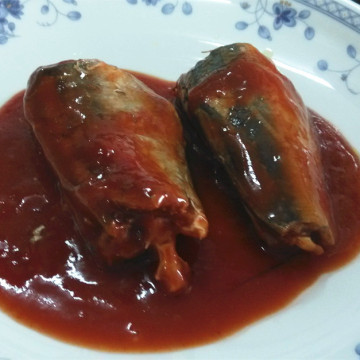Mackerel In Tomato Hot Chili Lithography OEM Can