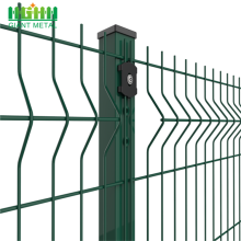 Green pvc coated welded wire mesh fence netting
