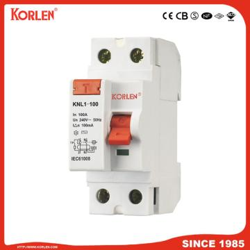 Residual Current Circuit Breaker KNL1-100 63A CB 4P