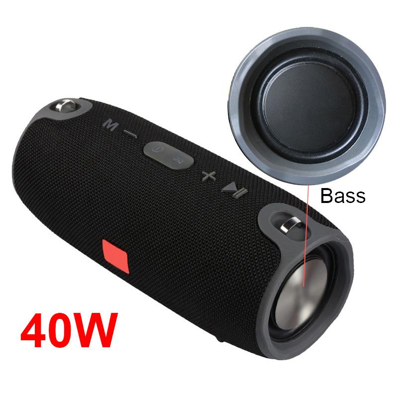 Wireless Bluetooth Bass Speaker 40W Waterproof Portable Outdoor Sound Column Loudspeaker Sport Hifi Boombox Stereo Fm Subwoofer