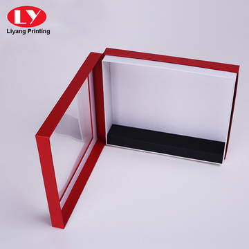 Red cardboard window gift box