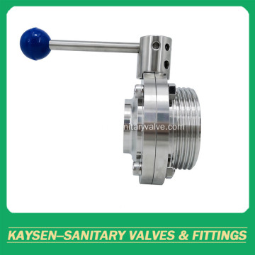Sanitary Butterfly Valves Male and Weld DIN/RJT