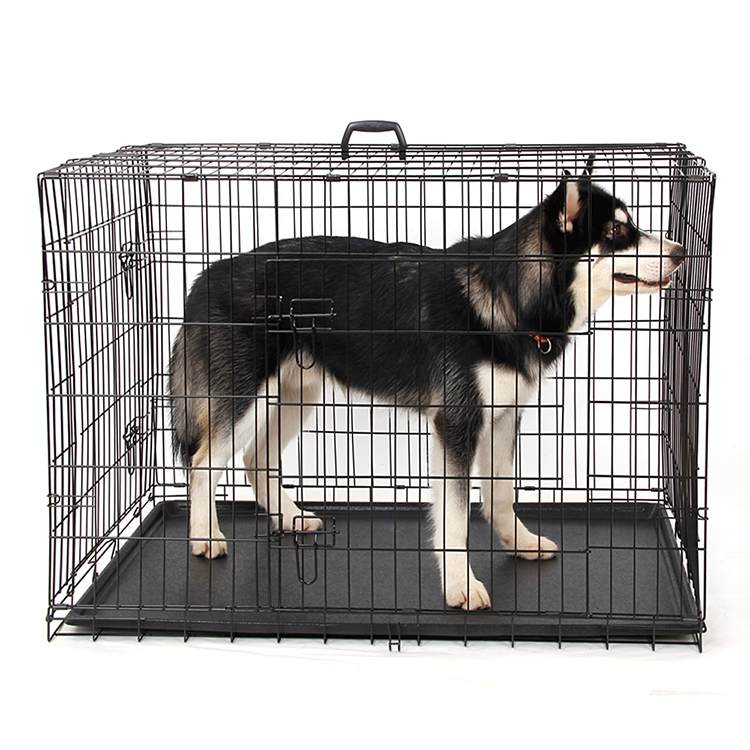 Domestic-Delivery-Wire-Foldable-Pet-Crate-font-b-Dog-b-font-Cat-Iron-font-b-Cage