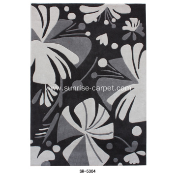 Hand-tufted Rug & Carpet with Floral Pattern