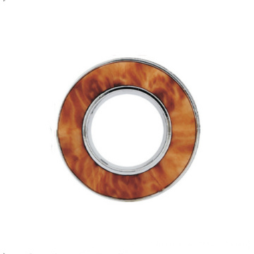 Bright Silver Mahogany Curtain Built-in Silencer Ring