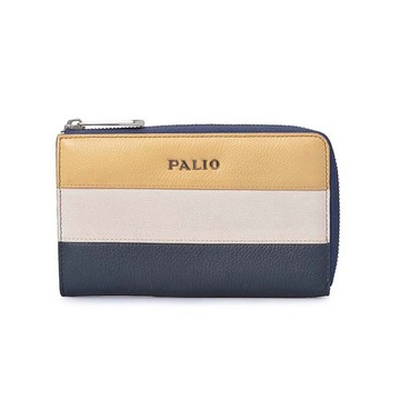 Leisure Style Series Contrast Color Female Leather Wallets