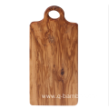 Rectangle wood chopping board with round handle