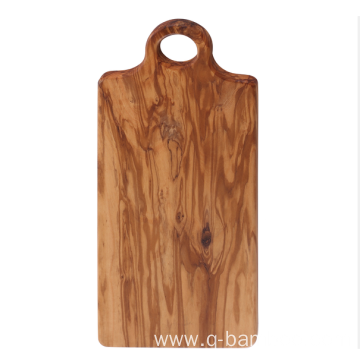 Round handle wood cutting board