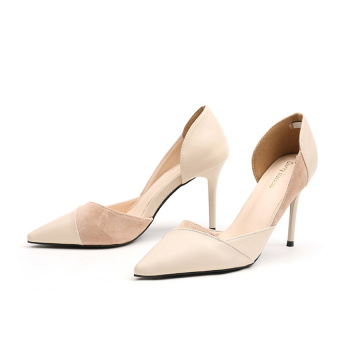 Women's Pointed Toe Side Hollow High Heel Shoes