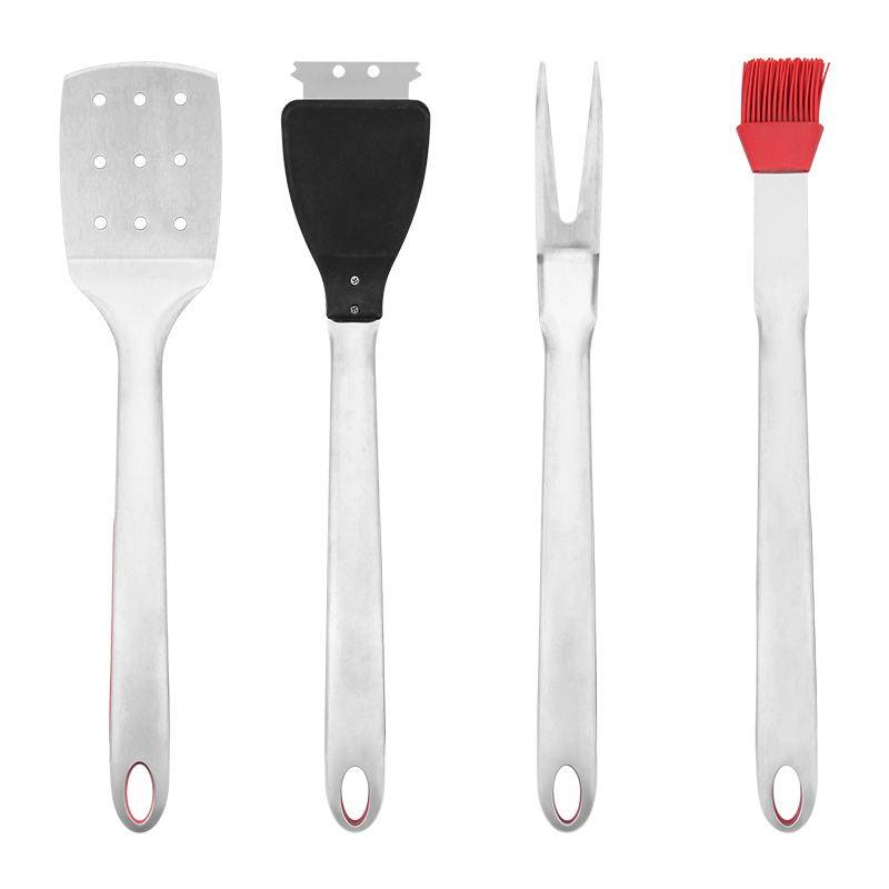 Stainless Steel Handle 4Pcs Bbq Grill Utensils