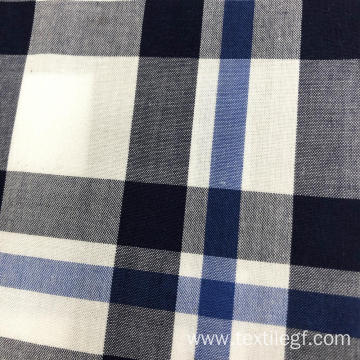 100% Cotton Yarn Dyed Fabric (White And Blue)