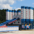 HZS belt conveyor 180m3 stationary concrete batching plant