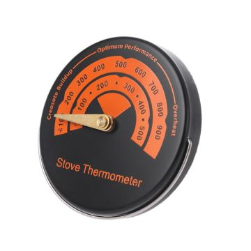 0-500 Degree Magnetic Stove Thermometer Heat Powered Wood Log Burner Fireplace Fan Thermometer BBQ Smoker Grill Thermometer