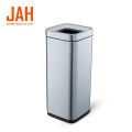 JAH Stainless Steel Metal Wastepaper Basket for Office