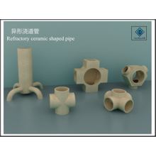 Refractory ceramic shaped pipe