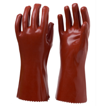 Dark Red PVC Coated Gloves with Cat 3