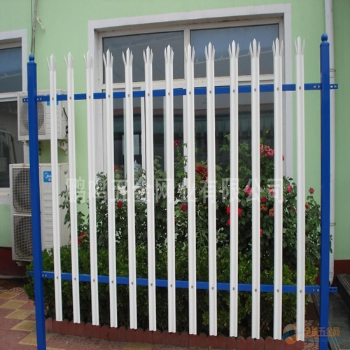 PVC coated white picket fence