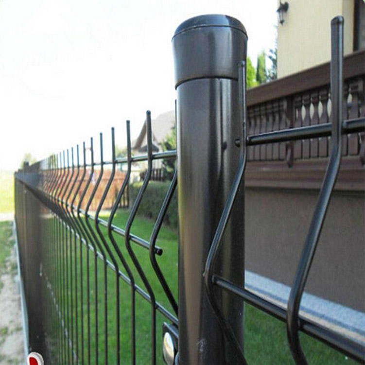 Commercial Galvanized Triangle Curved Mesh Fence 3D Fence