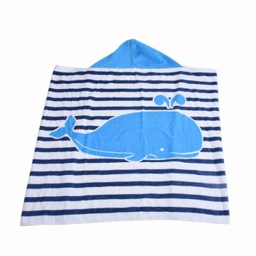 Cartoon baby hooded beach towel