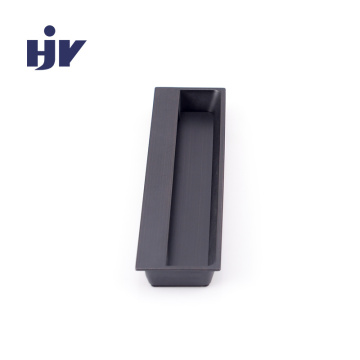 "HJY - Recessed Pull - 5"" (128mm) Rectangular Recessed Pull in matt black"
