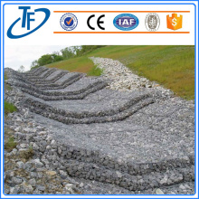 Gabion box for rock fall protection